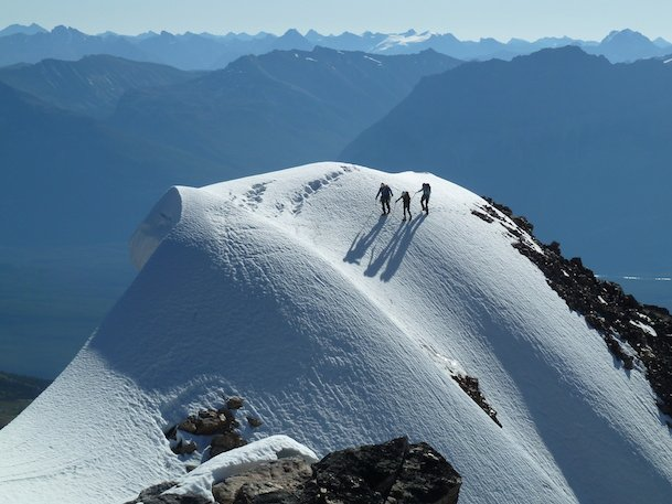 guided alpine climbing