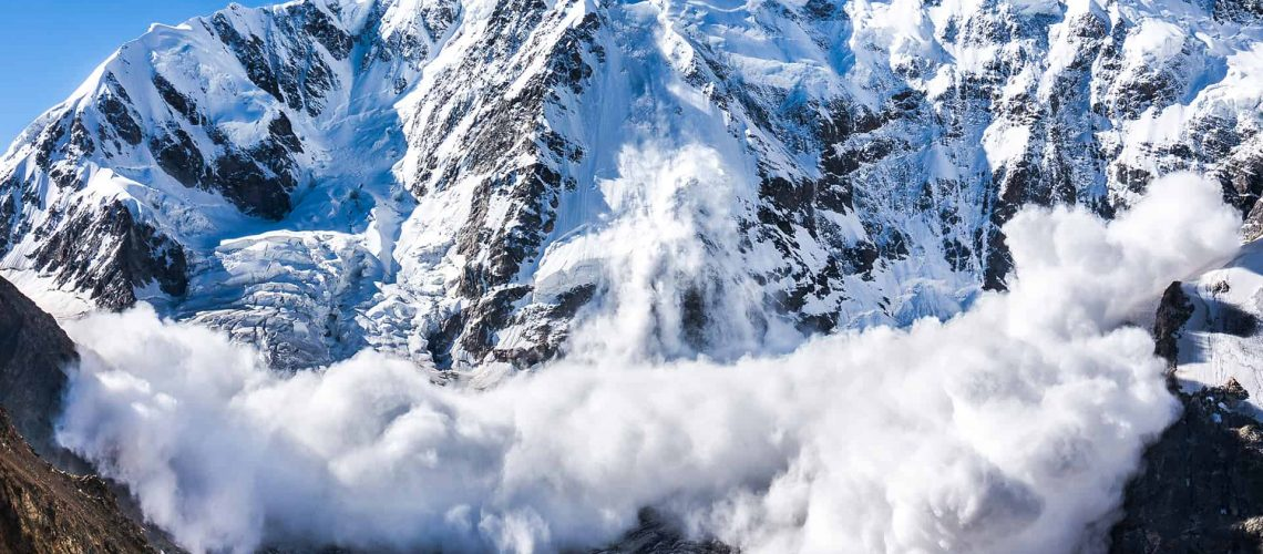 Large Avalanche on a Peak